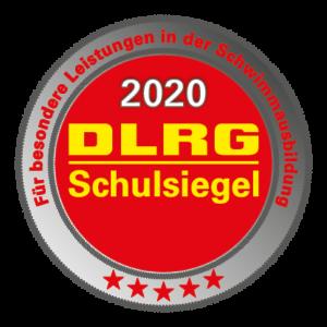 Schulsiegel der DLRG - Für besondere Leistung in der Schwimmausbildung
